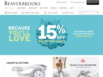 About Beaverbrooks Discount Discount Voucher Codes. We understand that the customers deal with a lot of problems when they leave for shopping. Reasons like high priced products, unavailability of items and the missing out on offseason make the situation worse.