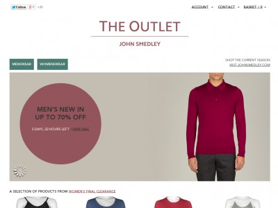 John smedley outlet discounts voucher codes 82 for Bodendirect outlet