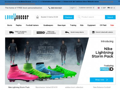 Lovell Soccer - The ONLY Place You Can Personalise Your Football Boots FOR FREE! With over 25 years experience in the Sports industry, we moved from our retail shops to online e-commerce in with the launch of Lovell Rugby, now the world's largest online rugby store.