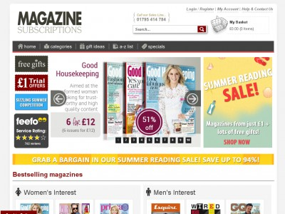 Magazine subscriptions voucher codes 95 july 2015 for Online magazine subscription services