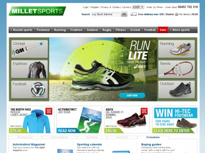 Millet Sports Voucher Code. At Millet Sports, they are passionate about sports and understand why people participate in sports. At the end of the day it is all about being competitive and enjoying the activity, whether you're competing against others or just against yourself.