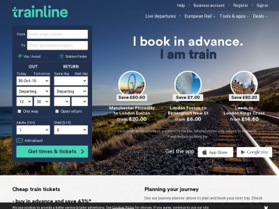 TrainLine Discount Code. TrainLine Discount codes, including TrainLine voucher codes, and 4 Discount code for December. You Can Make use Those Discount codes & deals to get extra savings on top of the great offers already on TrainLine.