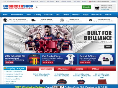 UK Soccer Shop Returns Policy. UK Soccer Shop will accept returns for up to seven days after receipt. Special orders, customized apparel or special-edition products cannot be returned. If you receive a damaged or faulty product, UK Soccer Shop will exchange or refund your purchase. How to Use a UK Soccer Shop Coupon Code.
