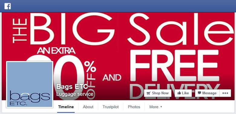 Bags ETC on Facebook
