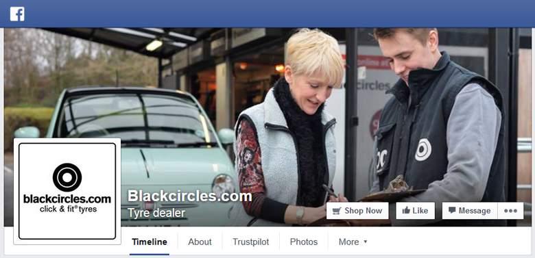 Black Circles on Facebook