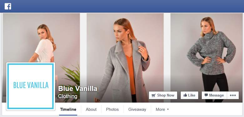 Blue Vanilla on Facebook