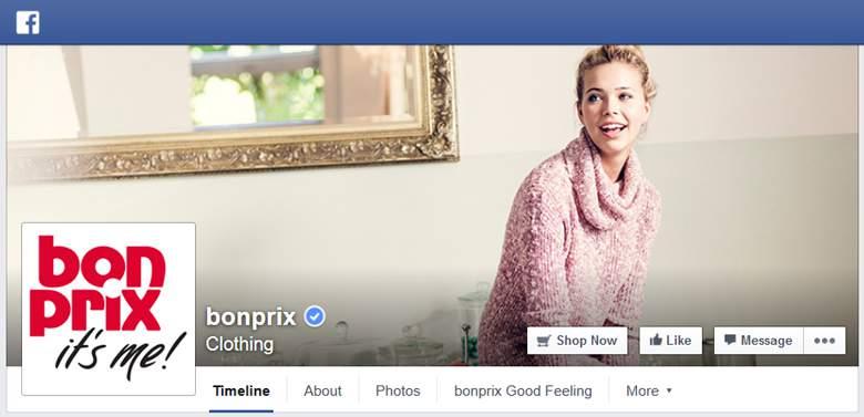Bonprix on facebook