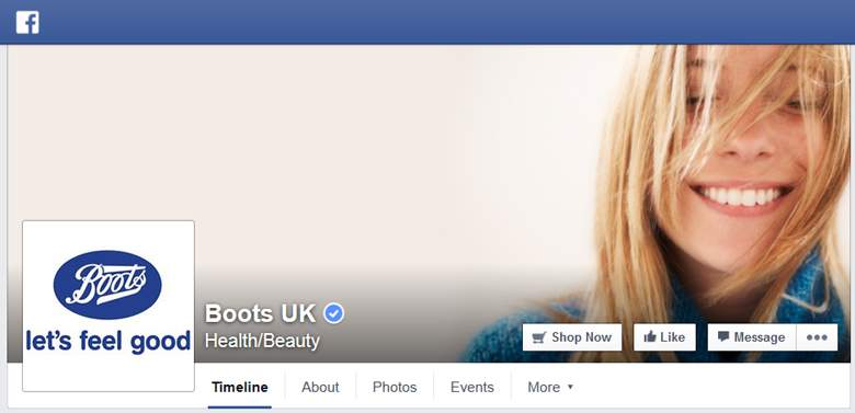Boots on facebook