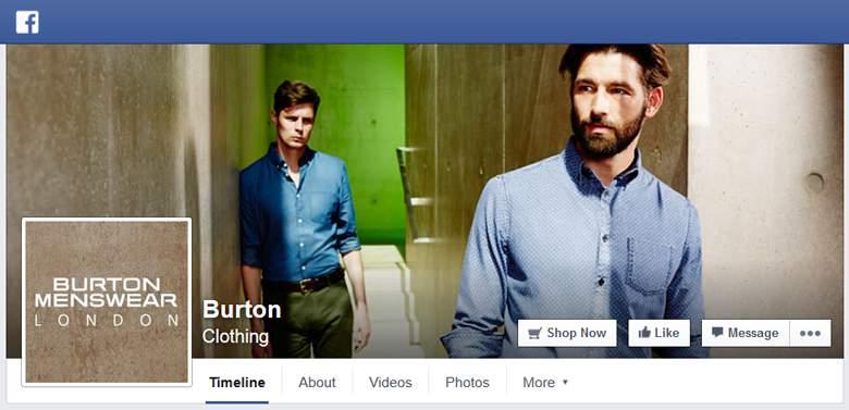 Burton on Facebook