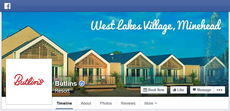Butlins on Facebook