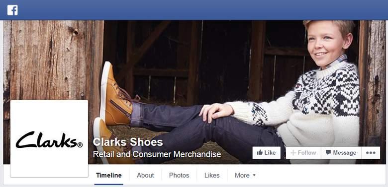 Clarks on facebook