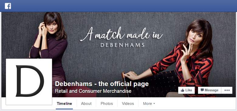 Debenhams on Facebook