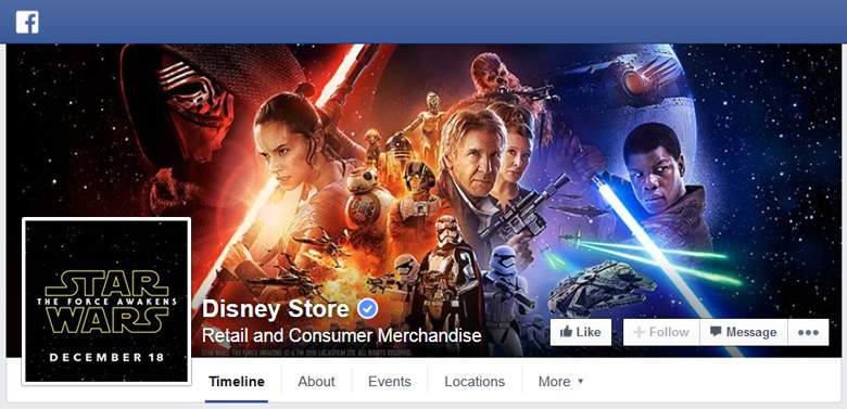 Disney Store on facebook