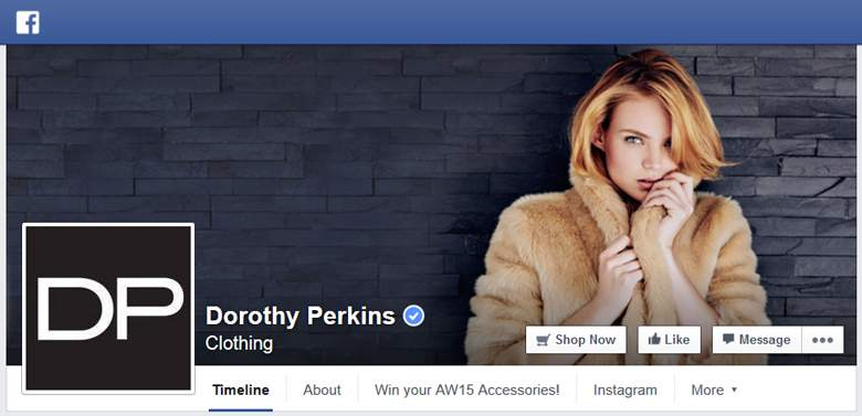 Dorothy Perkins on facebook
