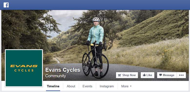 Evans Cycles on Facebook