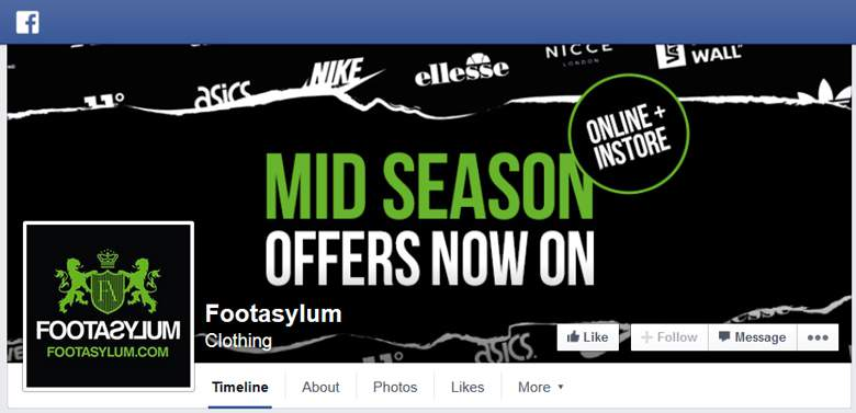 Footasylum on Facebook
