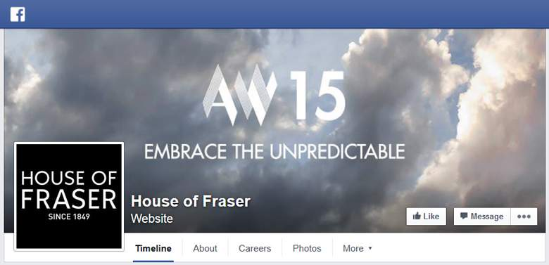 House of Fraser on Facebook