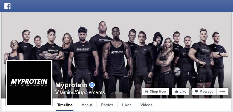 Myprotein on facebook