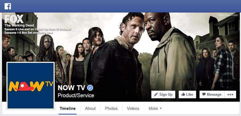 Now TV on Facebook