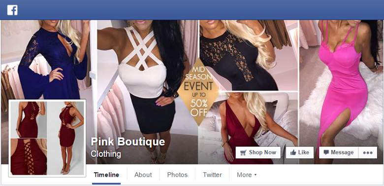 Pink Boutique on Facebook