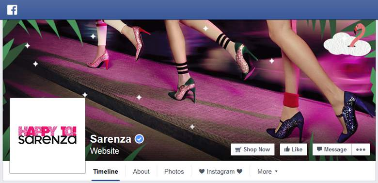 Sarenza on Facebook