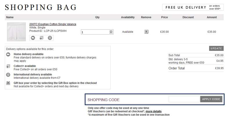 The White Company cart