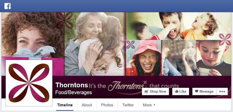 Thorntons on facebook
