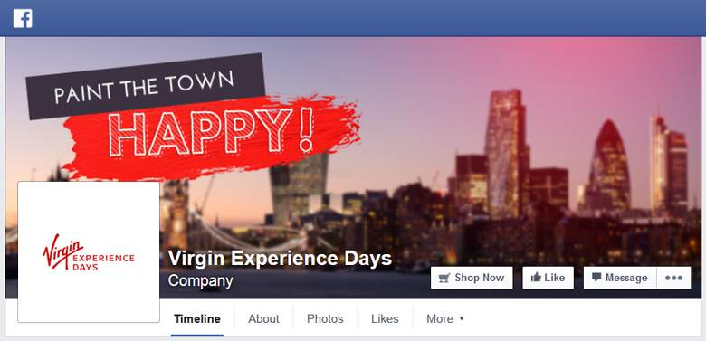 Virgin Experience Days on Facebook