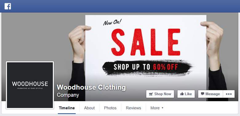 Woodhouse Clothing on Facebook