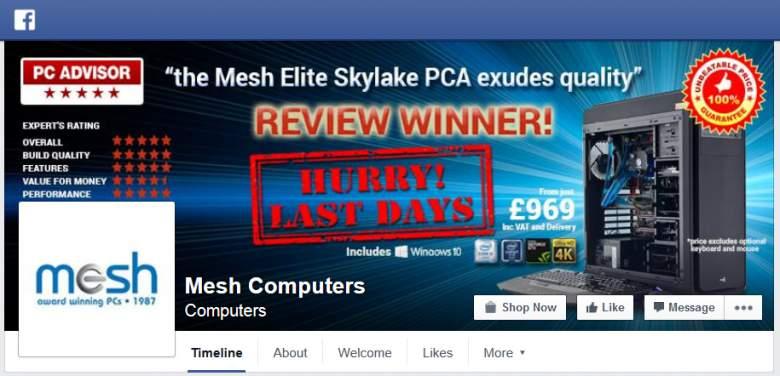 Mesh on Facebook