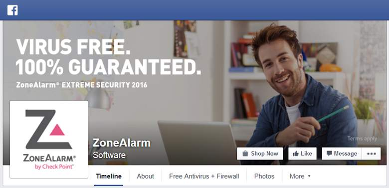 ZoneAlarm on Facebook