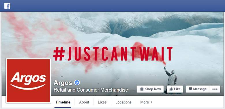 Argos on Facebook