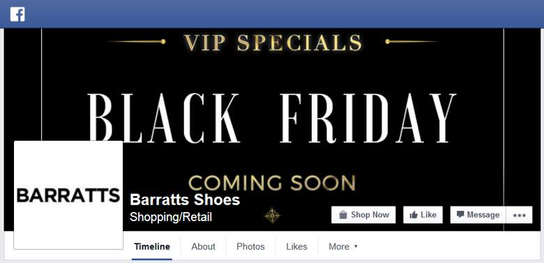 Barratts on Facebook