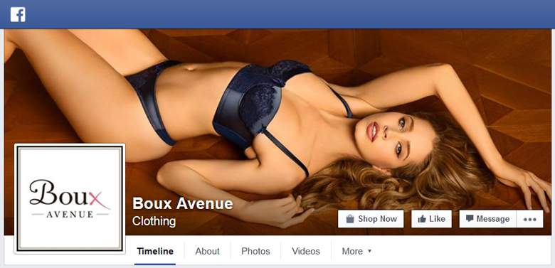 Boux Avenue on Facebook