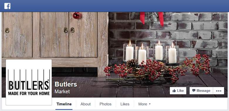 Butlers on Facebook