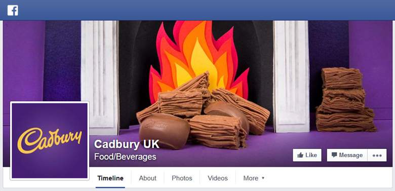 Cadbury Gifts on Facebook