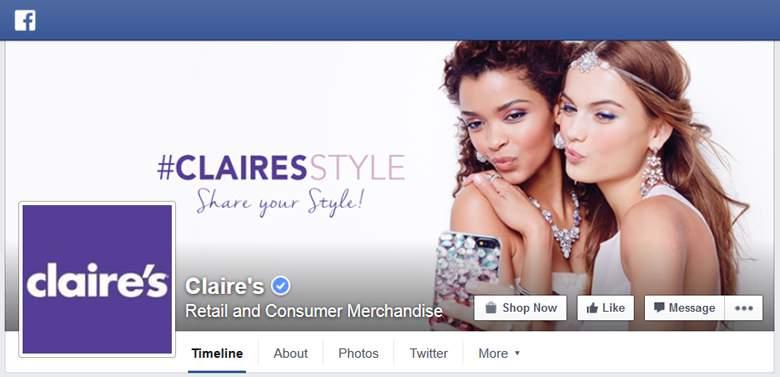 Claires on Facebook