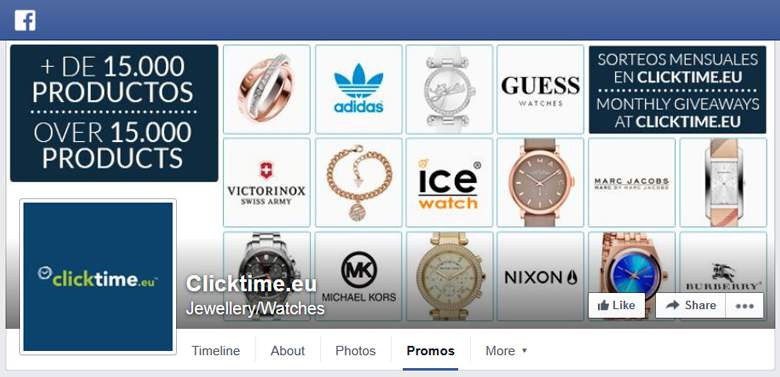 Clicktime on Facebook
