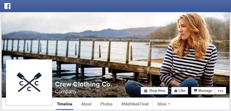 Crew Clothing on Facebook