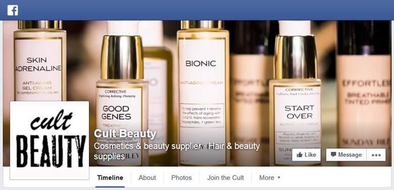 Cult Beauty on Facebook