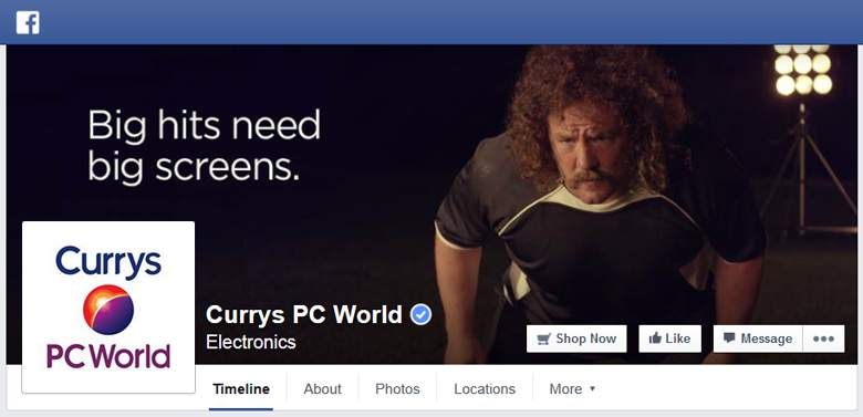 Currys on Facebook
