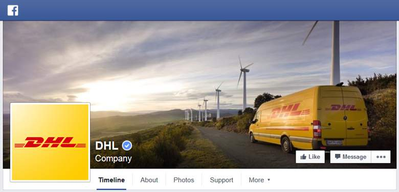 DHL on Facebook