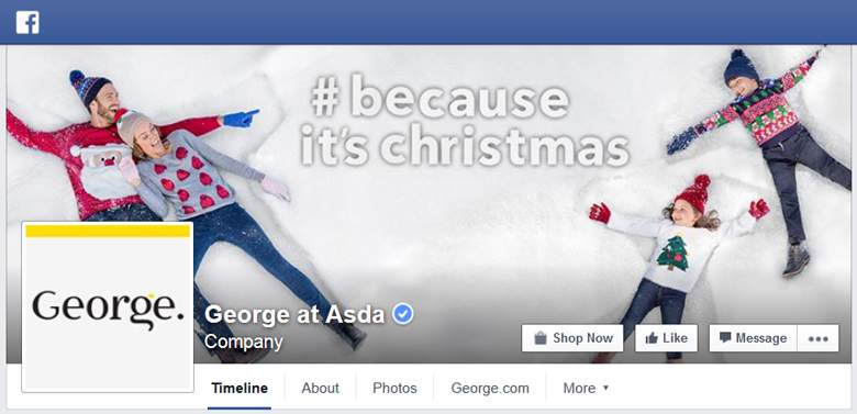 George at Asda on Facebook