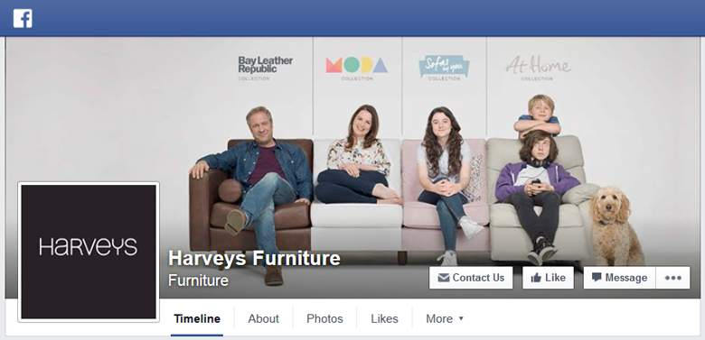 Harveys on Facebook