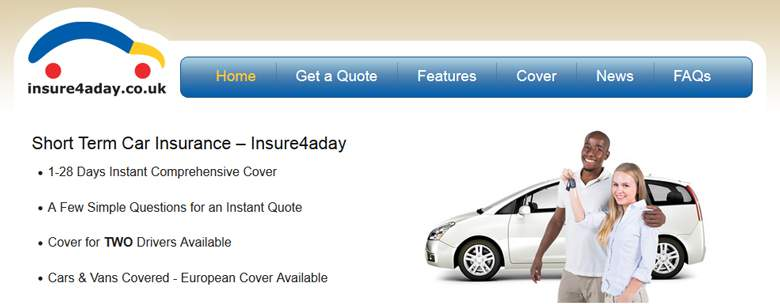 Insure 4 a Day Homepage