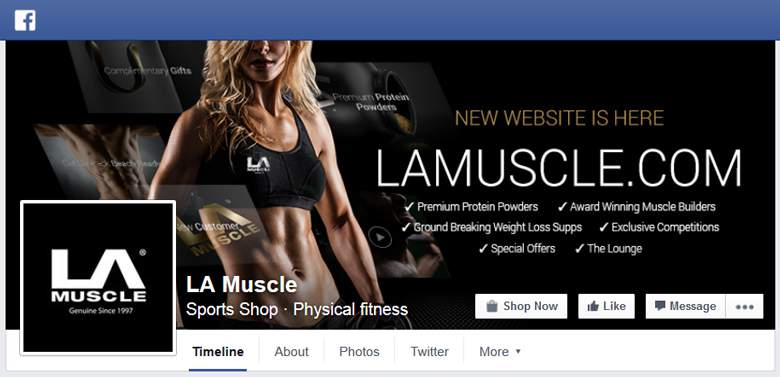 LA Muscle on Facebook