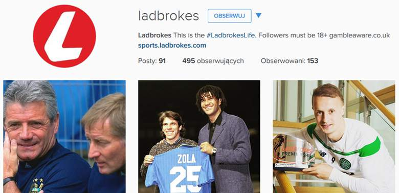 Ladbrokes on Instagram