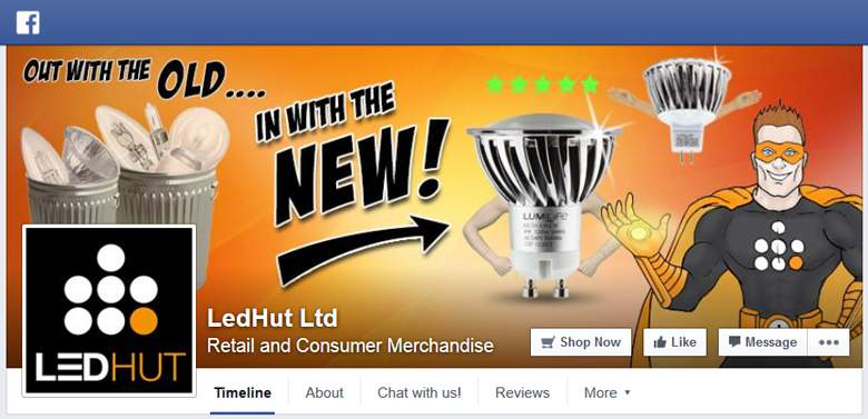 LED Hut on Facebook