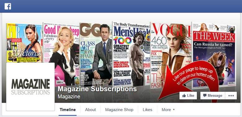 Magazine Subscriptions on Facebook