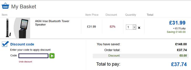 Mighty Deals shopping cart